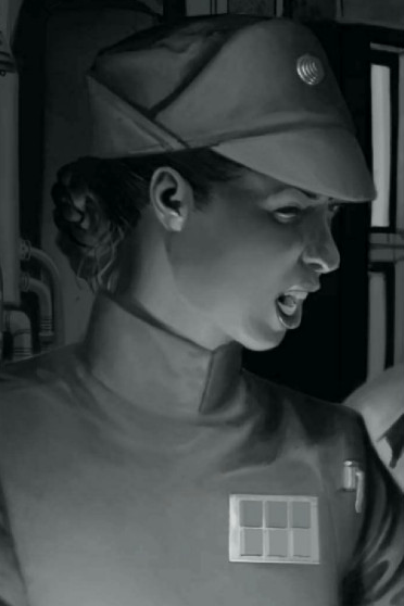 Imperial Captain Rae Sloane, pictured in Star Wars Insider #152