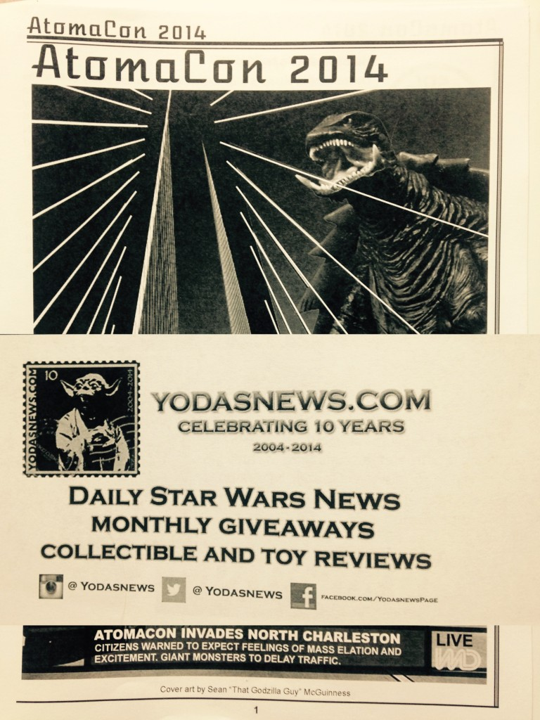 Yoda's News advertisement in the Atomacon 2014 program.