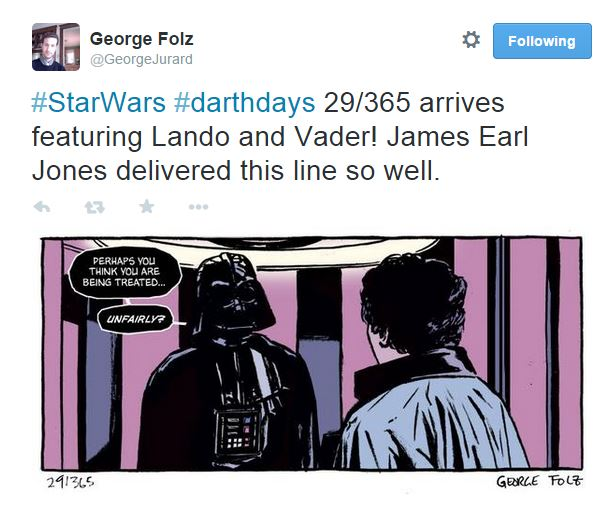 2015-01-29 16_12_04-George Folz on Twitter_ _#StarWars #darthdays 29_365 arrives featuring Lando and