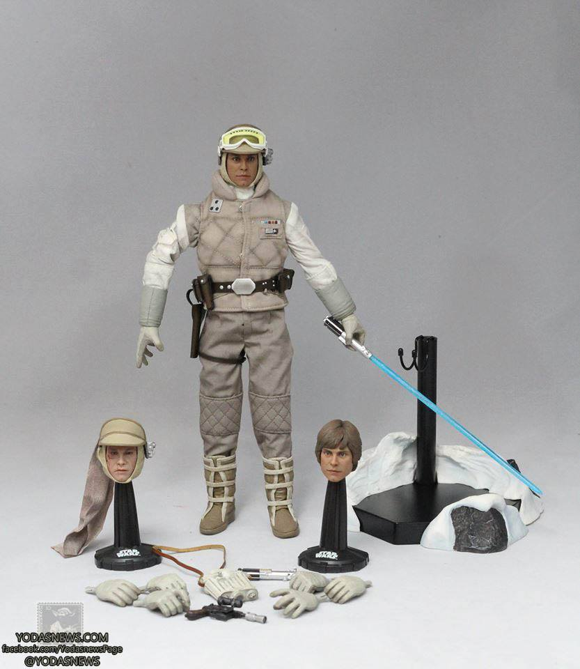 sideshow collectibles commander luke skywalker in hoth gear star wars action. Black Bedroom Furniture Sets. Home Design Ideas