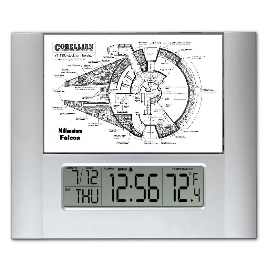Millennium falcon blueprint plans digital clock on amazon 71wxnensiglsl1050 malvernweather Image collections