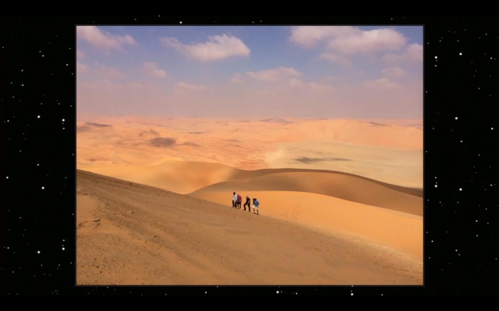 Shot of a brand new desert planet (not Tatooine).
