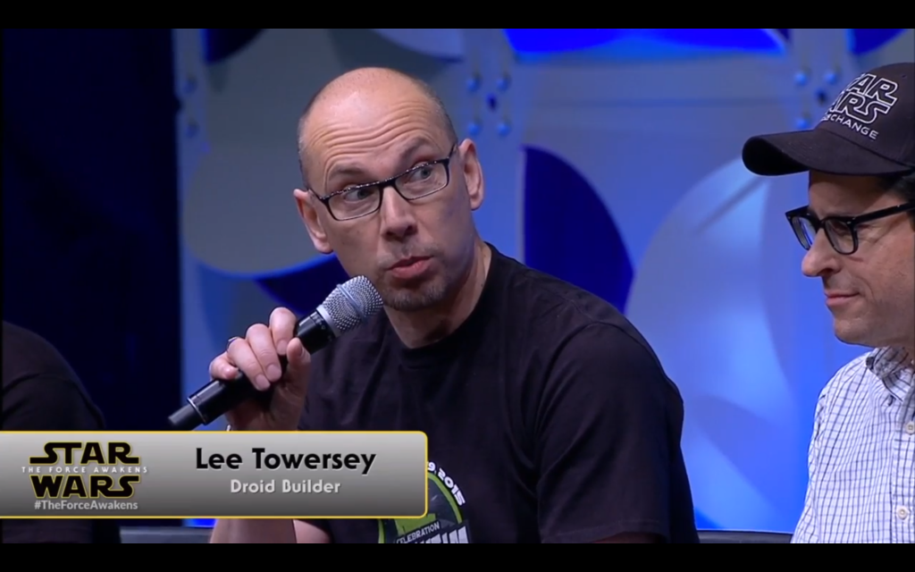 Lee Towersey talks about building the droids of Episode 7.