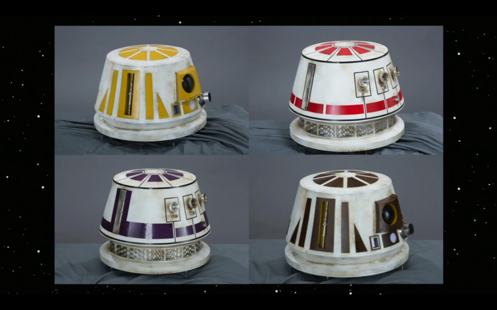 Various x-wing droid designs.