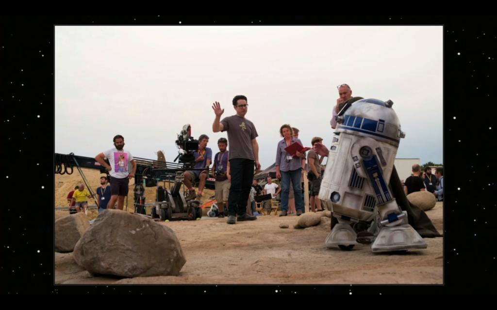 R2-D2 on set.