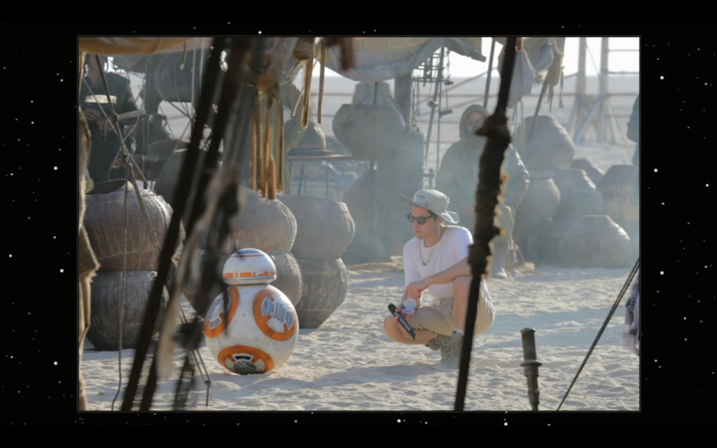BB-8 on set.