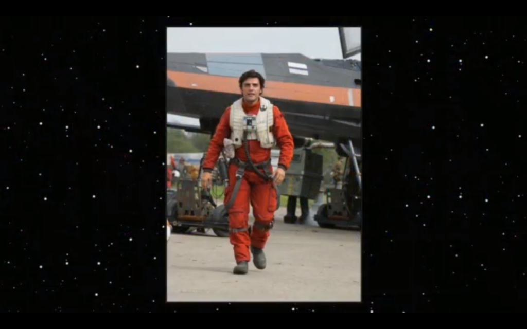 Oscar Isaac dons his x-wing uniform.