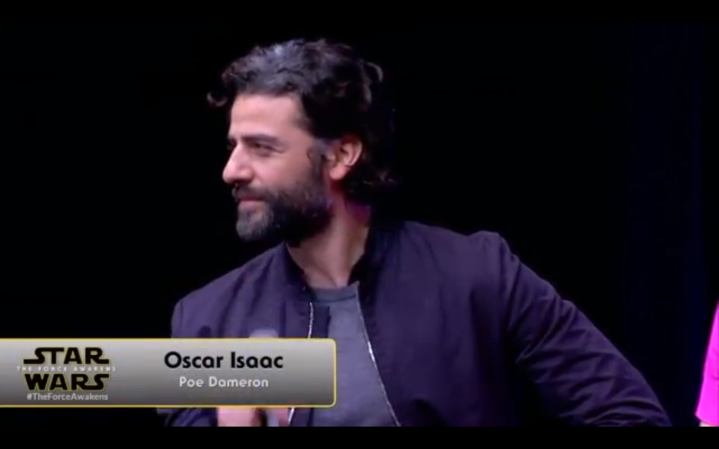 "Oscar Isaac will be playing ""Poe Dameron."""