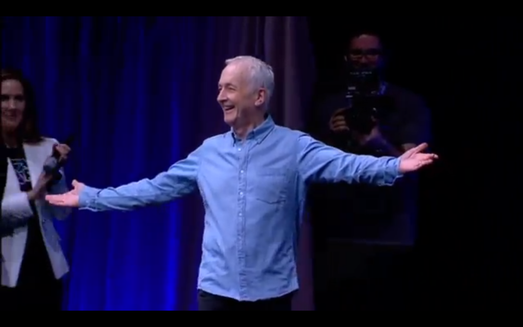 Anthony Daniels (C-3PO) on stage.