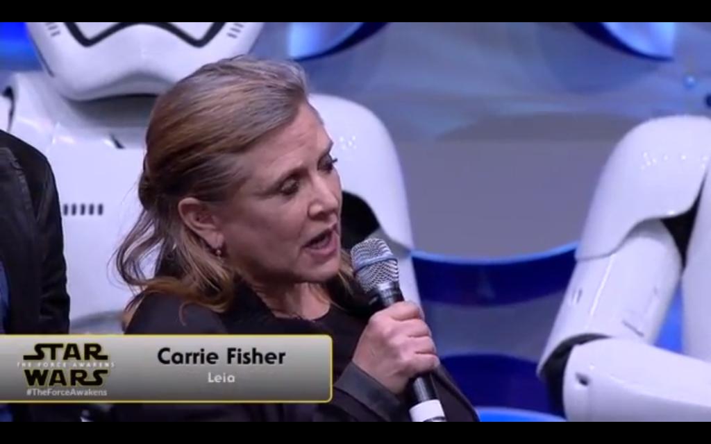 Leia confirms no hair buns this time around.