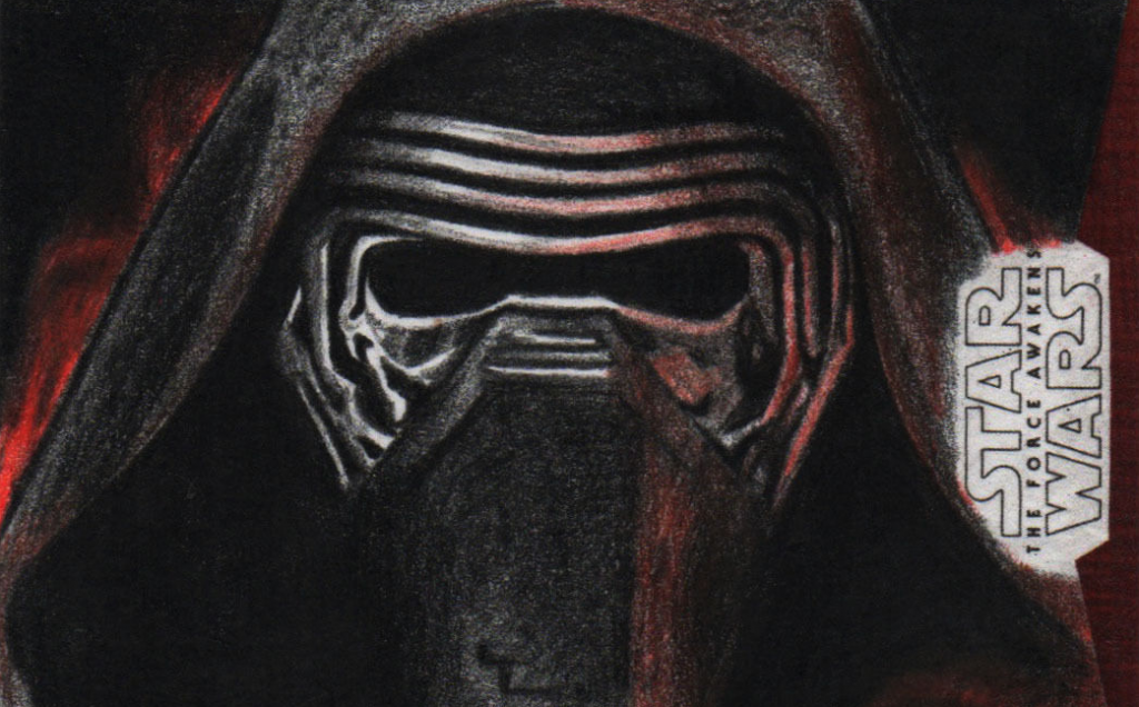 2016-01-12 21_55_20-Topps Star Wars The Force Awakens Kylo Ren Sketch Artist Proof by Brent Ragland