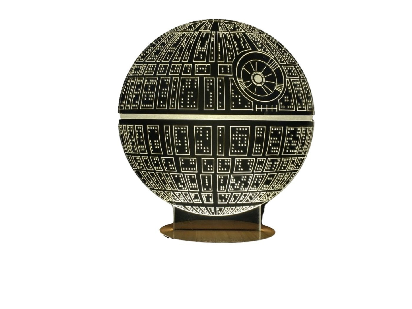 death star 3d light table lamp on amazon star wars action figures. Black Bedroom Furniture Sets. Home Design Ideas