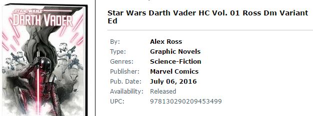 2016-07-06 15_11_03-Star Wars Darth Vader HC Vol. 01 Ross Dm Variant Ed at TFAW.com