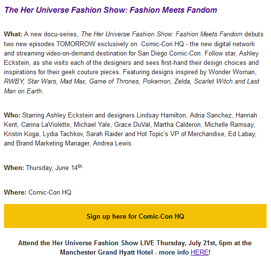 2016-07-14 11_10_35-TUNE IN_ New Her Universe Fashion Show Episodes Debut TOMORROW on CCHQ! - Inbox