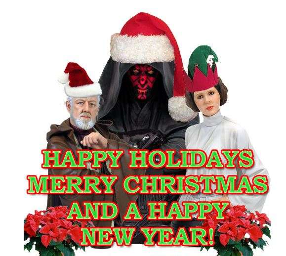 merry christmas and happy holidays - Merry Christmas Star Wars
