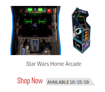 Pre-Order the Star Wars Home Arcade Game with Riser by Arcade1UP